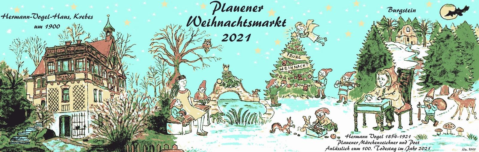 """""""Bürgertasse Plauener Weihnachtsmarkt 2021 - Hermann Vogel ©N.Mühlbrant&A.Goldhahn"""""""
